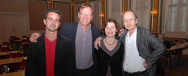 Erik, Theresa, Sigmund og mig
